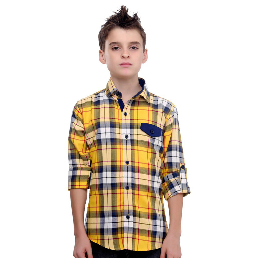 MashUp Yellow Shirt For Boys - KRAZYLA