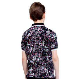 Print Mania- Multicolor Polo Tshirt - mashup boys