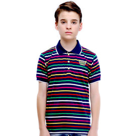 MashUp Super Stripes- Multicolor Polo Tshirt - KRAZYLA