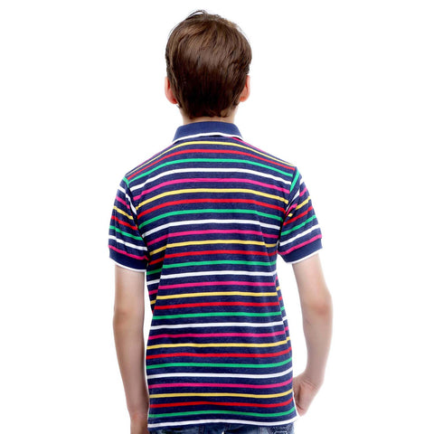 MashUp Super Stripes- Multicolor Polo Tshirt - mashup boys