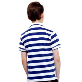 MashUp Super Stripes – Blue & White Polo Tshirt - mashup boys