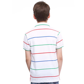 MashUp Super Stripes – White Polo Tshirt - mashup boys