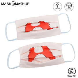 MashUp Fun Mask,Yosemite Sam Printed 3-layer Reusable Washable Protective Face Mask(Pack of 2)(Kids Size)(Universal Fit) - mashup boys