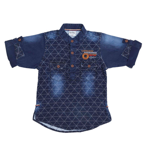 Denim print kurta from the house of Bad Boys - mashup boys