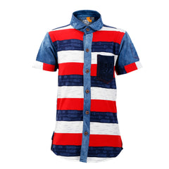 Mashup Striped Shirt - mashup boys