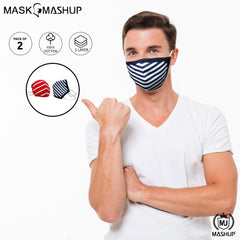 MashUp Fashion Mask,washable 2-layer protective mask (Pack of 2) - MASHUP
