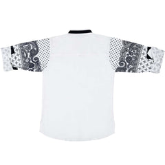 Bad Boys printed sleeves White kurta shirt - KRAZYLA