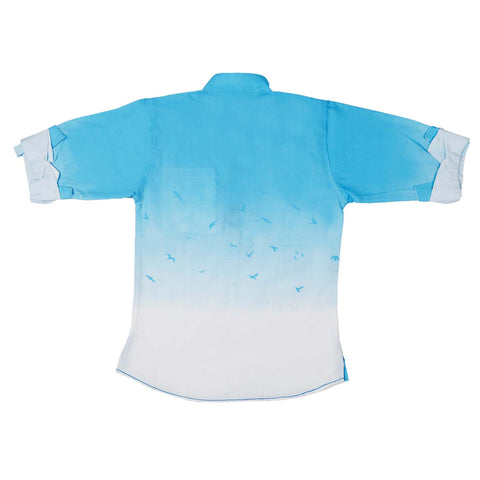 Bad Boys Cool Blue Ombre Kurta Shirt - KRAZYLA