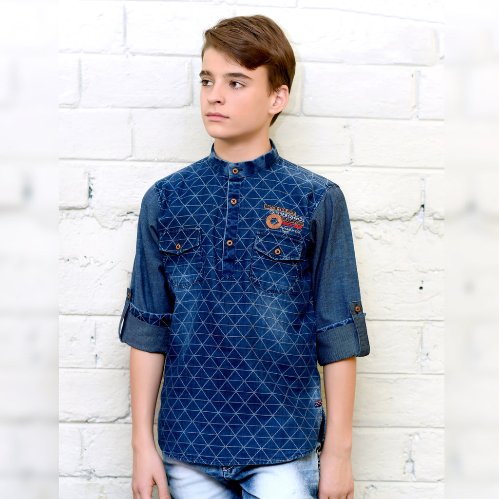 Denim print kurta from the house of Bad Boys - KRAZYLA