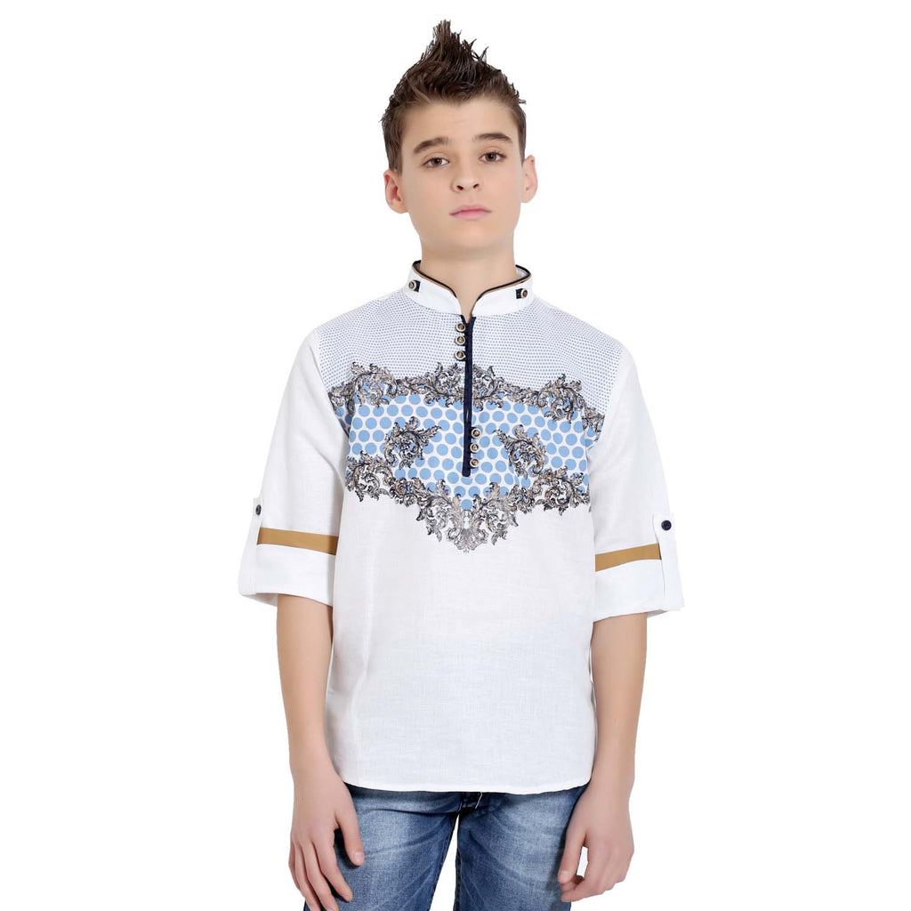 Elegant print kurta from the house of Bad Boys - mashup boys