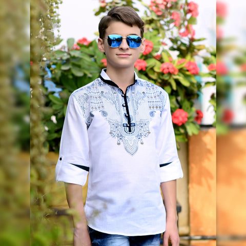 Indian print Linen kurta from the house of Bad Boys - mashup boys