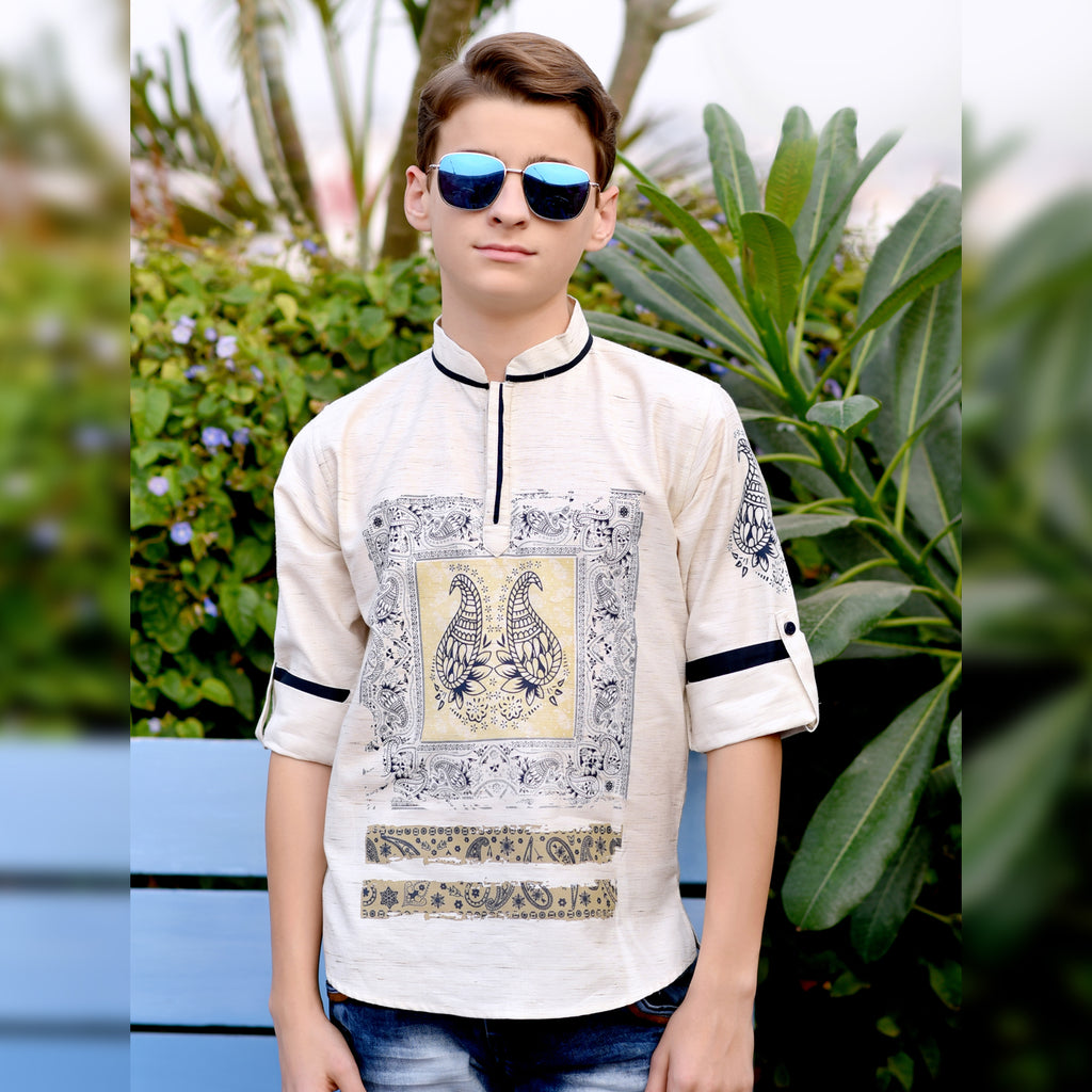 Paisley printed kurta from the house of Bad Boys - mashup boys