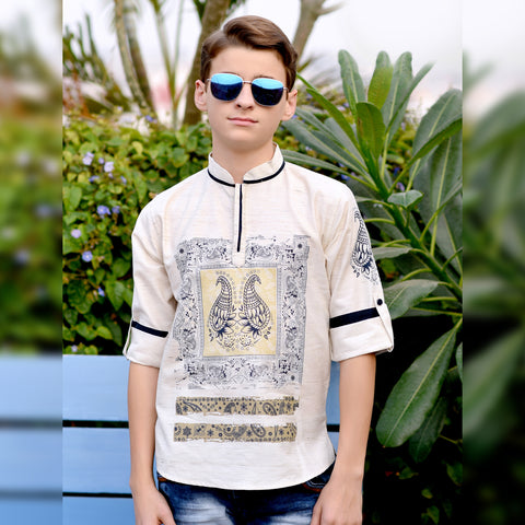 Paisley printed kurta from the house of Bad Boys - KRAZYLA