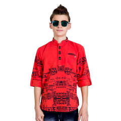 Aztec print kurta from the house of Bad Boys - mashup boys