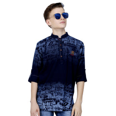 Denim Indigo Print kurta from the house of Mashup - KRAZYLA