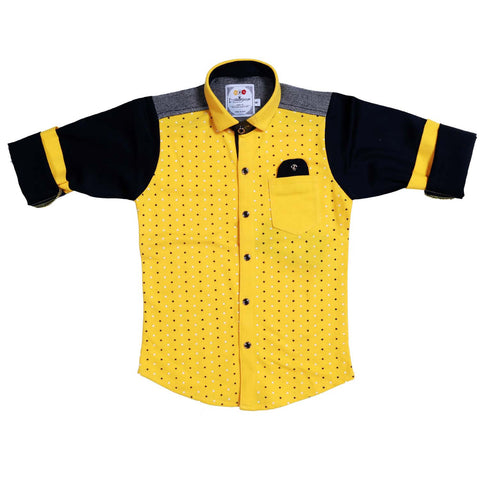 MashUp Superstar Print Yellow Shirt - KRAZYLA