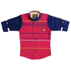 MashUp Fusion Red & Navy Shirt - KRAZYLA