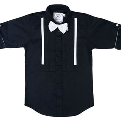 MashUp Classic Black Dress Shirt - KRAZYLA