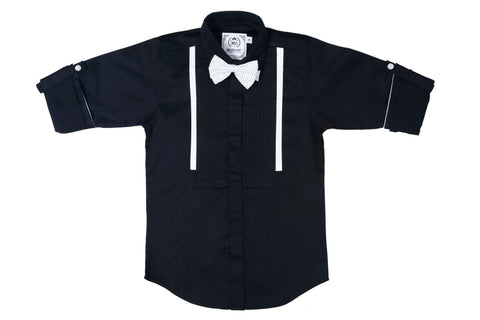MashUp Classic Black Dress Shirt - mashup boys