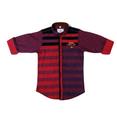 MashUp Woven Casual Red Shirt - KRAZYLA
