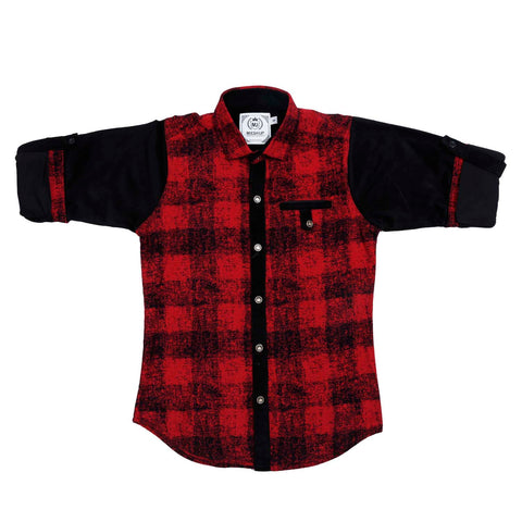 Mashup Plaid Print Shirt - KRAZYLA