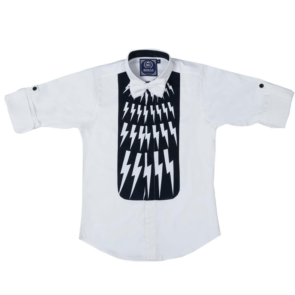 MashUp Designer White Party Shirt - mashup boys