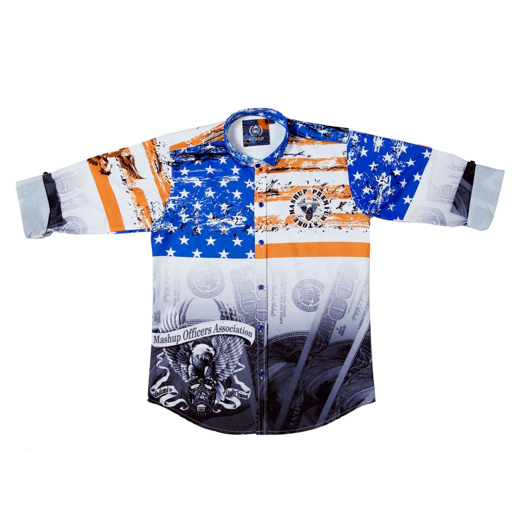 MashUp Stars & Stripes Printed Party Shirt - mashup boys