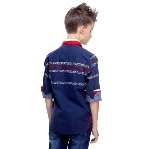 MashUp Designer Collection – Blue shirt - mashup boys