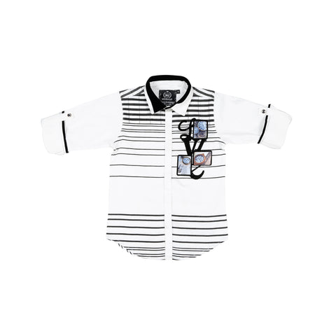 MashUp ombre Striper shirt - mashup boys