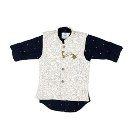 MashUp dapper Nehru jacket and geometric print shirt. - KRAZYLA