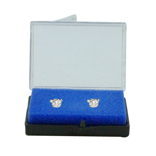 PLASTIC CASE FOR DIAMOND AND ROUGH STONE  (WHITE/BLUE FOAM INSIDE) 40MM x 60MM / 60MM x 80MM