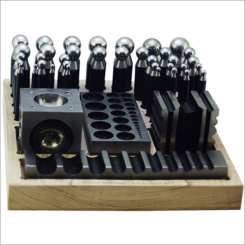 40 pc Jumbo Doming Block and Punch Set made of Steel Dapping Die Jewelers Tool