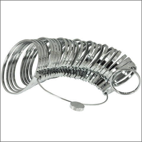 Heavy Duty Bracelet / Bangle Sizer Chrome Plated 27 Piece Jewelry Sizing Tool