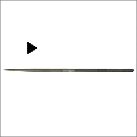 Grobet USA 20cm Three-Square Needle File