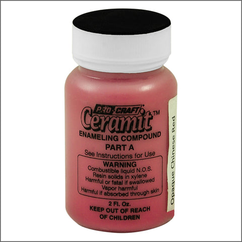 CERAMITATION COLORS-2 OZ opaque  chinese red-part A