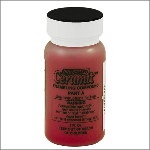 CERAMITATION COLORS-2 OZ  opaque red-part A