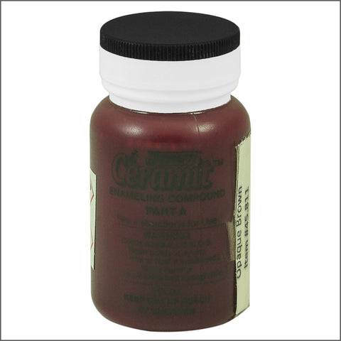 CERAMITATION COLORS-2 OZ opaque  brown-part A