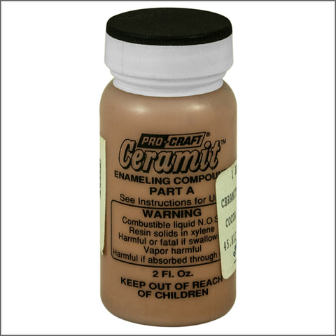 CERAMITATION COLORS-2 OZ opaque cocoa brown-part A