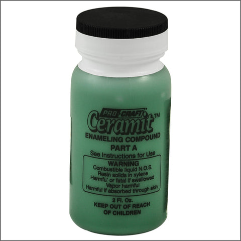 CERAMITATION COLORS-2 OZ opaque  jade green-part A