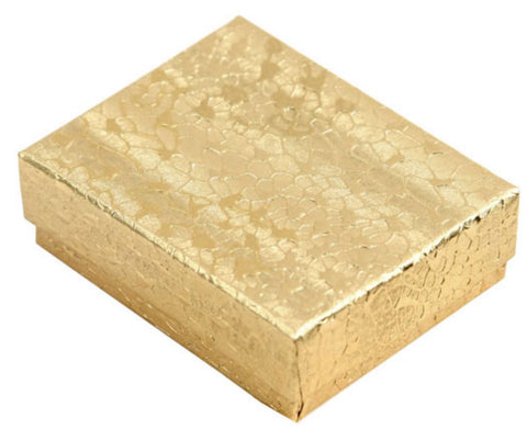 Cotton filled paper box Gold Color