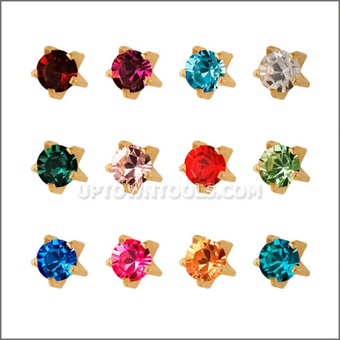 "STUDEX Ear Piercing / STUDEX EARRINGS / STUDEX PIERCING / STAINLES  REGULAR TIFFANY ""ASSORTED""-R113Y"