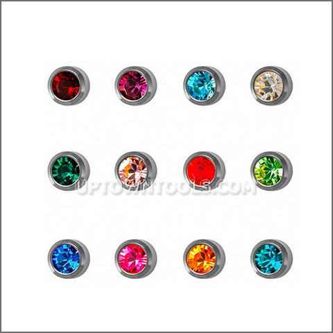 "STUDEX Ear Piercing / STUDEX EARRINGS / STUDEX PIERCING / STAINLESS REGULAR BIRTHSTONE ""ASSORTED""- R213W"