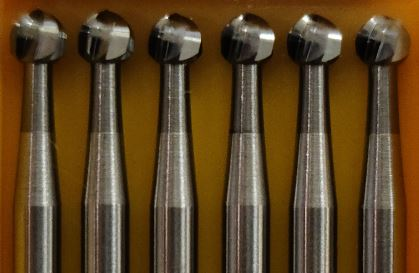 Carbide Round burs by Fox  ( Germany ) 6pcs per pk