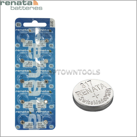 RENATA  317 ( SR516SW )   Silver Oxide Batteries (High Drain), 1.55 V-1STRIP (5pcs)