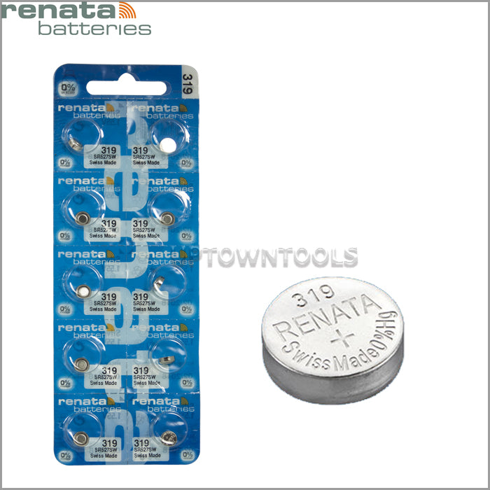 RENATA  319 ( SR527SW )   Silver Oxide Batteries (High Drain), 1.55 V-1STRIP (5pcs)