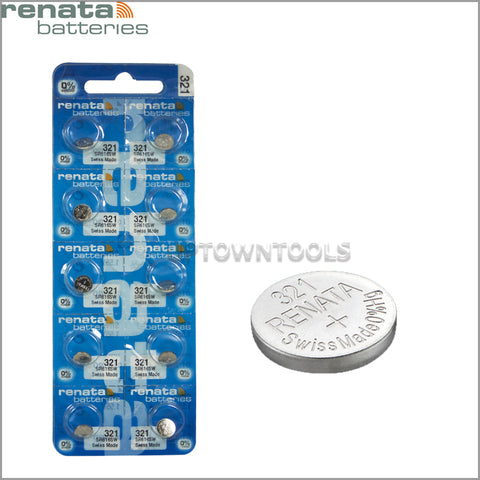 RENATA  321 ( SR616SW )  Silver Oxide Batteries (High Drain), 1.55 V-1 STRIP (5pcs)