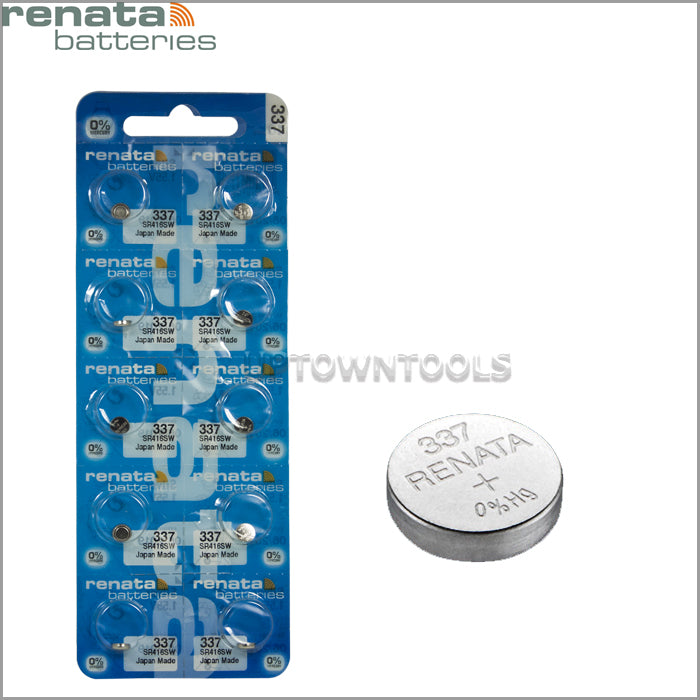 RENATA  337 ( SR416SW )  Silver Oxide Batteries (High Drain), 1.55 V-1STRIP (5pcs)