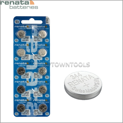 RENATA  344 ( SR1136S )   Silver Oxide Batteries (High Drain), 1.55 V-1STRIP (5pcs)