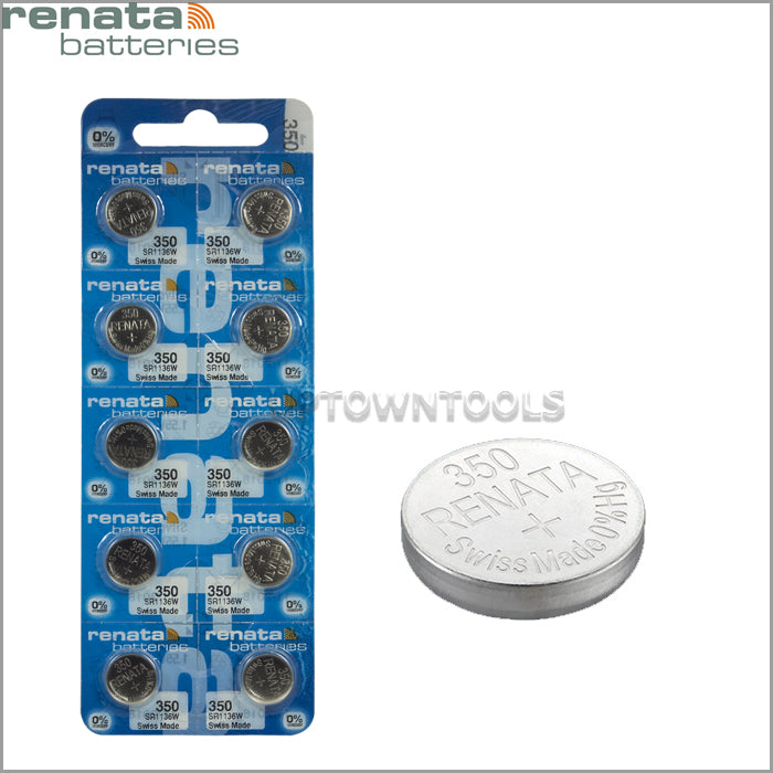 RENATA  350 ( SR1136W )   Silver Oxide Batteries (High Drain), 1.55 V-1 STRIP (5pcs)