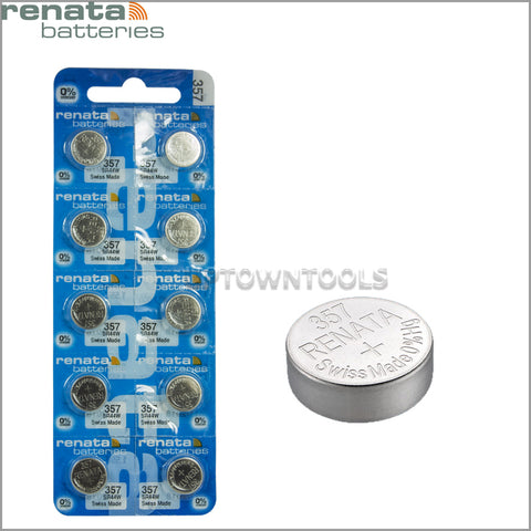 RENATA  357 ( SR44W )   Silver Oxide Batteries (High Drain), 1.55 V-1 STRIP (5pcs)